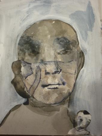 visage grisaille 72