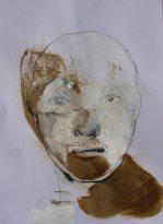 visage blanc et brun